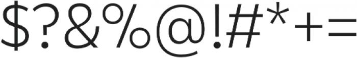 Karu Light otf (300) Font OTHER CHARS
