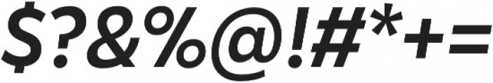 Karu Medium Italic otf (500) Font OTHER CHARS