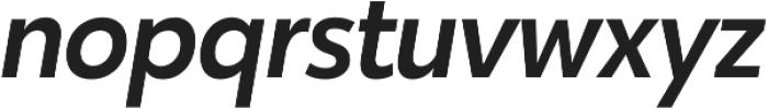 Karu Medium Italic otf (500) Font LOWERCASE