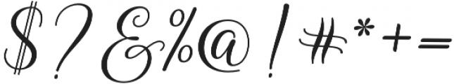 Kasandra Script Regular otf (400) Font OTHER CHARS