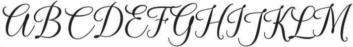 Kasandra Script Regular otf (400) Font UPPERCASE