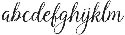 Kasandra Script Regular otf (400) Font LOWERCASE
