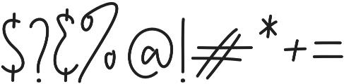 Kasting Script Regular otf (400) Font OTHER CHARS