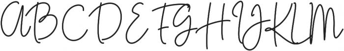 Kasting Script Regular otf (400) Font UPPERCASE