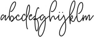 Kasting Script Regular otf (400) Font LOWERCASE