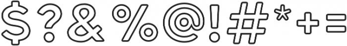 Katahdin Round Outline Bold otf (700) Font OTHER CHARS