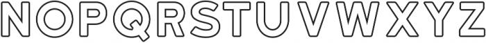 Katahdin Round Outline Bold otf (700) Font UPPERCASE