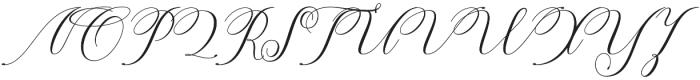 Katalyna Script Regular otf (400) Font UPPERCASE