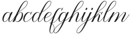 Katalyna Script Regular otf (400) Font LOWERCASE