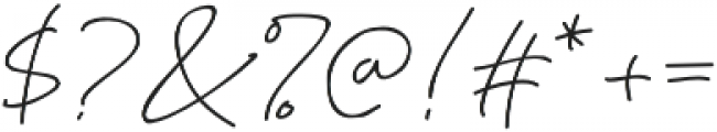 Katherine Script Regular otf (400) Font OTHER CHARS