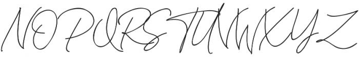 Katherine Script Regular otf (400) Font UPPERCASE