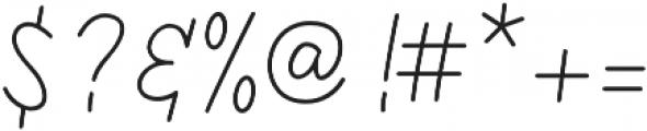 Kathullist Thin Regular otf (100) Font OTHER CHARS
