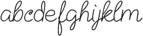 Kathullist Thin Regular otf (100) Font LOWERCASE