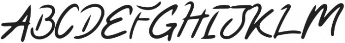 Kaysan Signature Regular otf (400) Font UPPERCASE