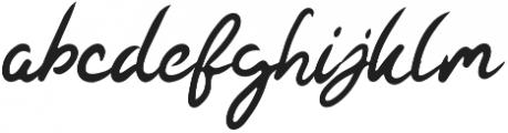 Kaysan Signature Regular otf (400) Font LOWERCASE