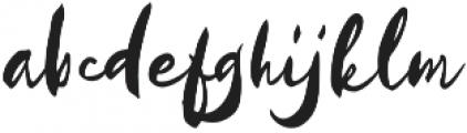 Kayto Script Standard otf (400) Font LOWERCASE