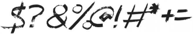 Kayu Bakar Italic otf (400) Font OTHER CHARS