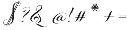 Kazincbarcika Script otf (400) Font OTHER CHARS