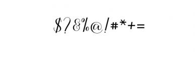 Kalisha Script OTF Font OTHER CHARS