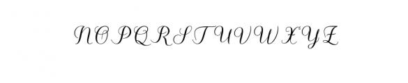 Kalisha Script OTF Font UPPERCASE