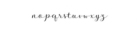 Kalisha Script OTF Font LOWERCASE