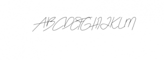 Katty Signature Font UPPERCASE