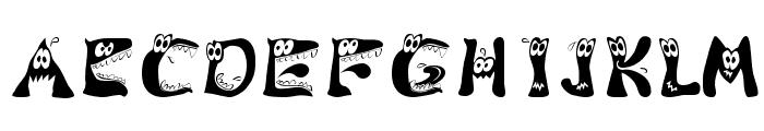 KAMonster Font UPPERCASE