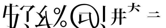 KANEIWA alp regular Font OTHER CHARS
