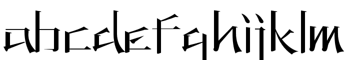 KANEIWA alp regular Font LOWERCASE