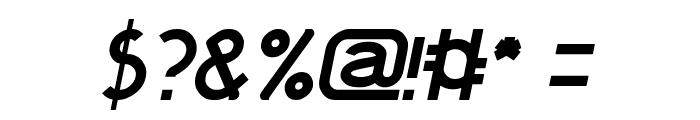 KANGAROO Punch Italic Font OTHER CHARS