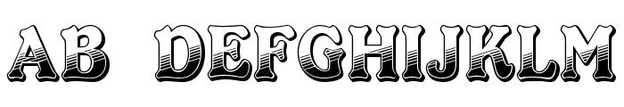 Kabarett Decor DEMO Thin Font UPPERCASE
