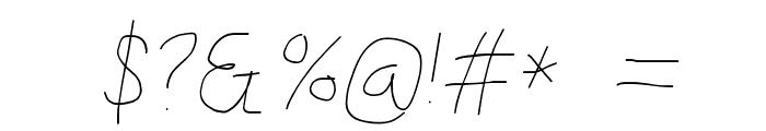 Kabina Bold Oblique Font OTHER CHARS
