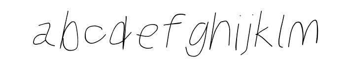 Kabina Bold Oblique Font LOWERCASE