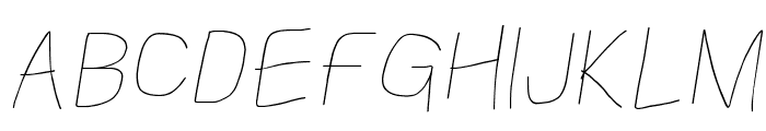 Kabina Book Oblique Font UPPERCASE