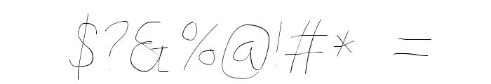 Kabina Hairline Oblique Font OTHER CHARS