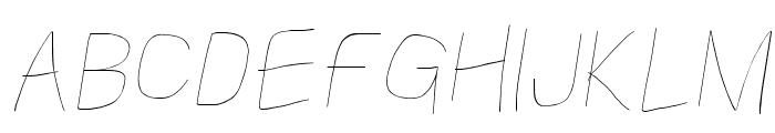 Kabina Hairline Oblique Font UPPERCASE