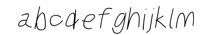 Kabina SemiBold Oblique Font LOWERCASE