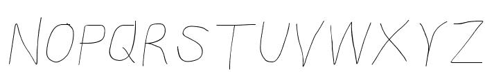 Kabina SemiLight Oblique Font UPPERCASE