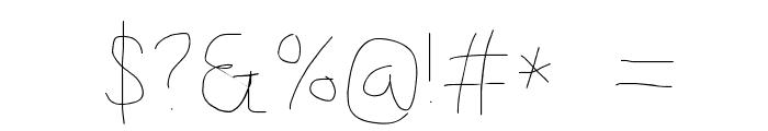 Kabina SemiLight Font OTHER CHARS
