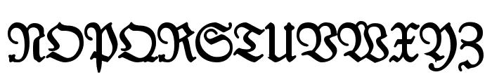 Kabinett-Fraktur Halbfett Font UPPERCASE
