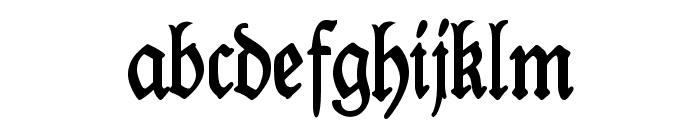 Kabinett-Fraktur Halbfett Font LOWERCASE