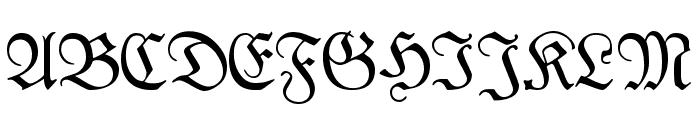 Kabinett-Fraktur Mager Font UPPERCASE