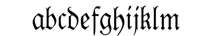 Kabinett-Fraktur Mager Font LOWERCASE