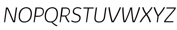 Kabrio-ExtraLightItalic Font UPPERCASE