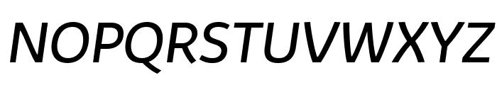 Kabrio-Italic Font UPPERCASE