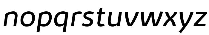 Kabrio-Italic Font LOWERCASE