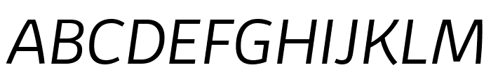 Kabrio-LightItalic Font UPPERCASE