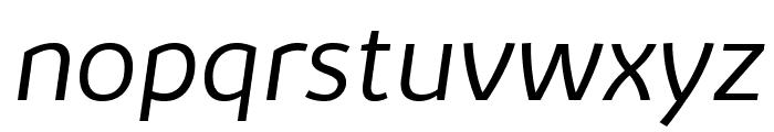 Kabrio-LightItalic Font LOWERCASE