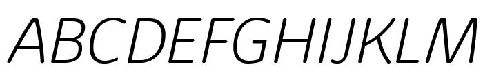 KabrioAbarth-ExtraLightItalic Font UPPERCASE