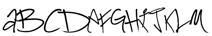 Kadafia Font UPPERCASE